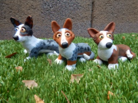 Corgi Sculptures